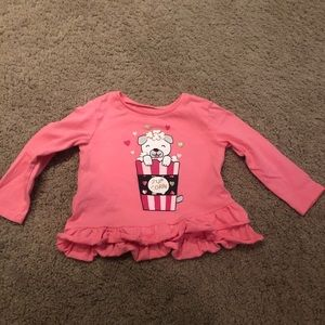 Popcorn Puppy Pink Long Sleeve Top